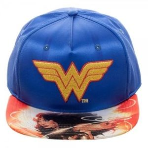 DC Comics Wonder Woman Satin Snapback Cap, Hat